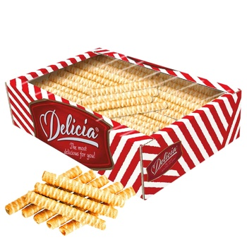 Delicia Wafer Rolls with Baked Milk Flavor 500g