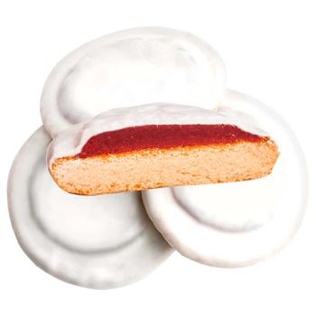 Печенье Делиция сдобное сбивное в молочной глазури со вкусом вишни