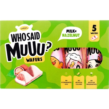 Вафлі АВК Who Said Muuu молочно-горіхові 58г