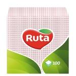 Серветки Ruta рожеві паперові 1-шарові 24*24см 100шт