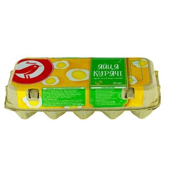 Яйца Ашан С0 10шт - купить, цены на Ашан - фото 1
