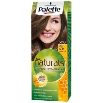 Крем-краска для волос Palette Naturals 6-0 (500) Темно-русый 110мл - купить, цены на ЕКО Маркет - фото 1