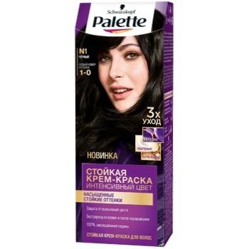Крем-краска для волос Palette Интенсивный цвет 1-0 (N1) Черный 110мл