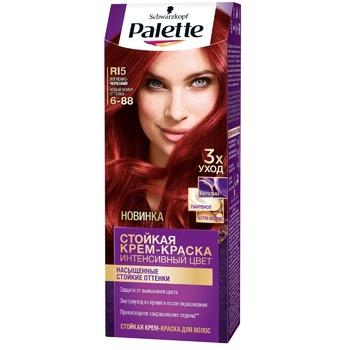 Краска для волос Palette интенсивный цвет 6-88 (RI5) огненно-красный 110мл