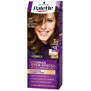 Краска для волос Palette интенсивный цвет ICC 6-65 (W5) золотистый грильяж 110мл