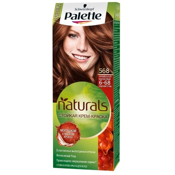 Краска для волос Palette Naturals 6-68 (568) Карамельный каштановый 110мл