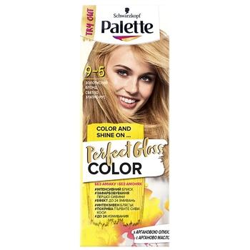 Краска для волос с аргановым маслом Palette Perfect Gloss Color 9-5 Золотистый блонд 70мл