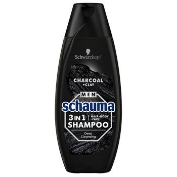 Schauma Shampoo Men Charcoal and Volcanic Vlay for Normal Hair 400ml - buy, prices for CityMarket - photo 1