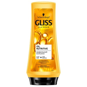 Schwarzkopf Gliss Kur Nourish Conditioner Oil Nutritive 200ml - buy, prices for Auchan - photo 4