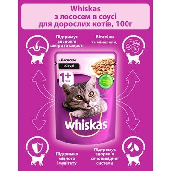 Корм для котов Whiskas с лососем в соусе 100г - купить, цены на ЕКО Маркет - фото 2