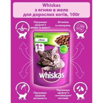 Whiskas Feed or Adult Cats with Lamb Meat in Jelly 100g - buy, prices for CityMarket - photo 6