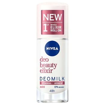 Дезодорант Nivea Deo Beauty Elixir Deomilk Sensitive для женщин шариковый 40мл
