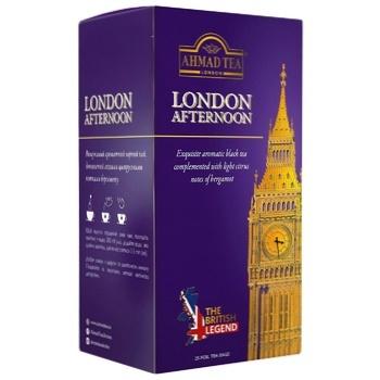Чай черный с бергамотом Ахмад Лондон Афтенун в конвертах 25х2г