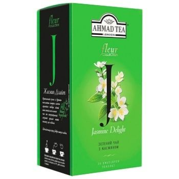 Ahmad Tea's Jasmine Delight Green Tea with Jasmine 20х2g enveloped tea bags
