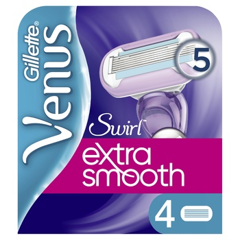 Кассеты для бритья Venus Swirl переменные 4шт - купить, цены на Novus - фото 1