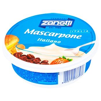 Сыр Zanetti Маскарпоне мягкий 80% 250г