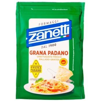 Сыр Zanetti Грана Падано тертый 32% 100г
