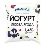 Йогурт Молокія Лісова ягода 1.4% 400г