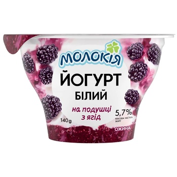 Molokiya White Blackberry Yogurt on Berries Pillow 5.7% 140g
