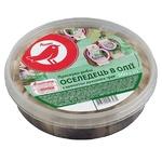 Сельдь Ашан филе-кусочки в масле с ароматом душистых трав 500г - купить, цены на Ашан - фото 1