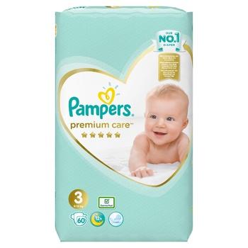 Пiдгузки Pampers Premium Care розмір 3 Midi 6-10кг 60шт - купити, ціни на CітіМаркет - фото 3