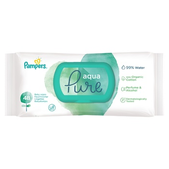Pampers Aqua Pure Napkins 48pcs - buy, prices for Auchan - photo 6