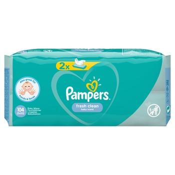 Cалфетки Pampers Fresh Clean 2х52шт - купить, цены на СитиМаркет - фото 7