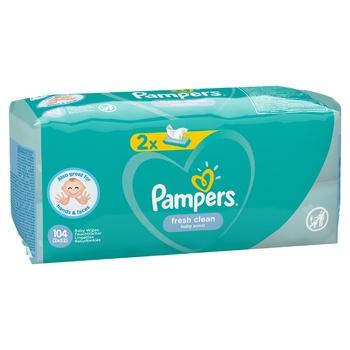 Cалфетки Pampers Fresh Clean 2х52шт - купить, цены на СитиМаркет - фото 8
