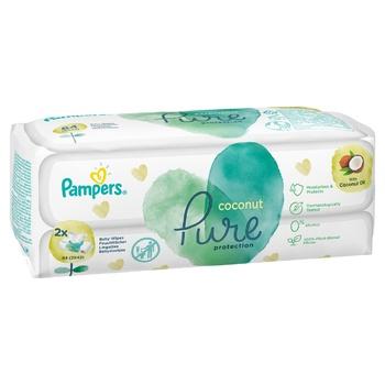 Салфетки Pampers Pure Coconut 84шт - купить, цены на Ашан - фото 7