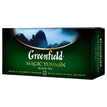 Greenfield Magic Yunnan Black Tea 25pcs 2g - buy, prices for Vostorg - photo 1