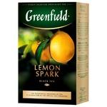 Black pekoe tea Greenfield Lemon Spark with lemon zest 100g