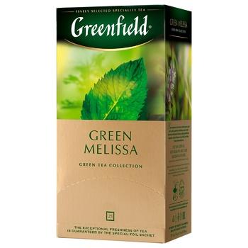 Чай зелений Greenfield Green Melissa 1,5г х 25шт - купити, ціни на Метро - фото 3