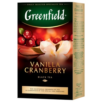 Greenfield Vanilla Cranberry Black Tea 100g - buy, prices for Auchan - photo 1