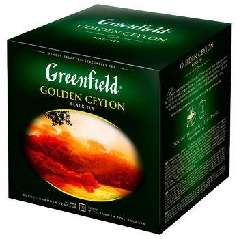 Greenfield Golden Ceylon 120 tea-bags - buy, prices for Metro - photo 1