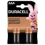 Батарейки Duracell AAA щелочные 4шт