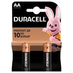 Батарейки Duracell AA щелочные 2шт