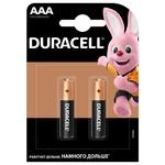 Батарейки Duracell AAA щелочные 2шт