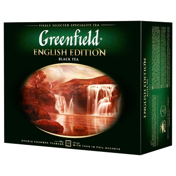 Greenfield English Edition 50 tea-bags - buy, prices for Auchan - photo 1