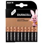 Батарейки Duracell AAA щелочные 18шт