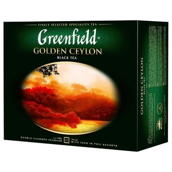 Greenfield Golden Ceylon 50 tea-bags - buy, prices for Auchan - photo 1