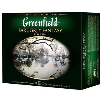 Чай Greenfield Earl Grey Fantasy 50пак - купить, цены на Ашан - фото 1