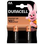 Батарейки Duracell AA лужні 2шт