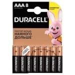 Батарейки Duracell AAA лужні 8шт