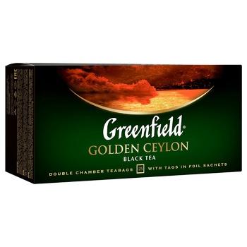 Чай чёрный Greenfield Golden Ceylon 2г х 25шт - купить, цены на Метро - фото 4
