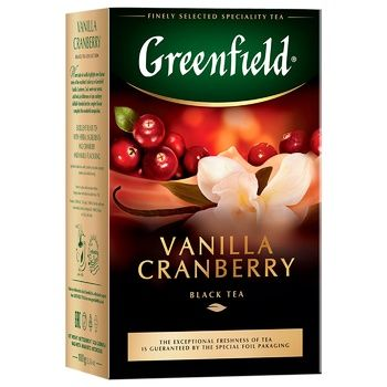 Greenfield Vanilla Cranberry Black Tea 100g - buy, prices for Vostorg - photo 2