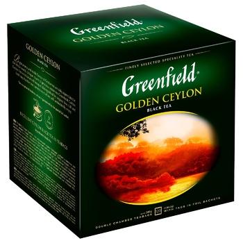 Greenfield Golden Ceylon 120 tea-bags - buy, prices for Metro - photo 2