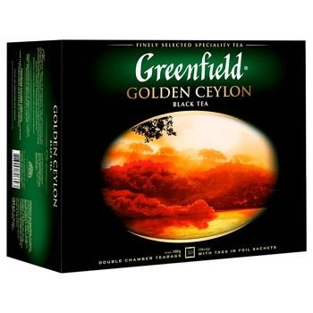 Greenfield Golden Ceylon 50 tea-bags - buy, prices for CityMarket - photo 2
