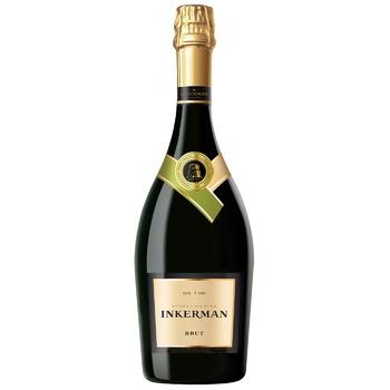 Вино ігристе Inkerman Brut біле 11-13% 0,75л - купити, ціни на CітіМаркет - фото 1