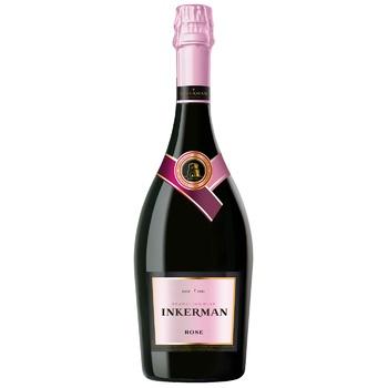 Вино игристое İnkerman розовое полусладкое 10-13,5% 0,75л