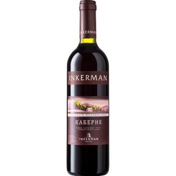 Вино Inkerman Коллекция молодых вин Каберне красное сухое 13% 0,7л - купить, цены на СитиМаркет - фото 1